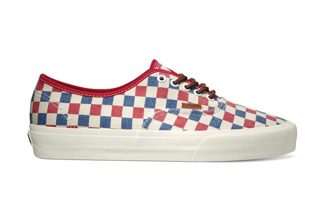 Vans California Collection Authentic Ca Checker Pack Fall 2013 Blue Red 1