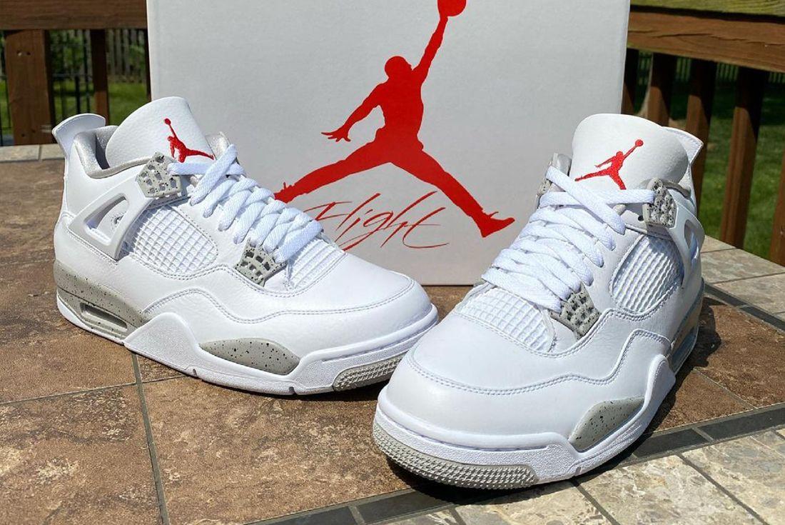Air Jordan 4 Tech White