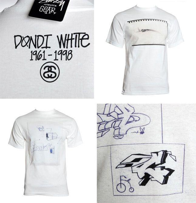 Stussy X Dondi White Tees 1
