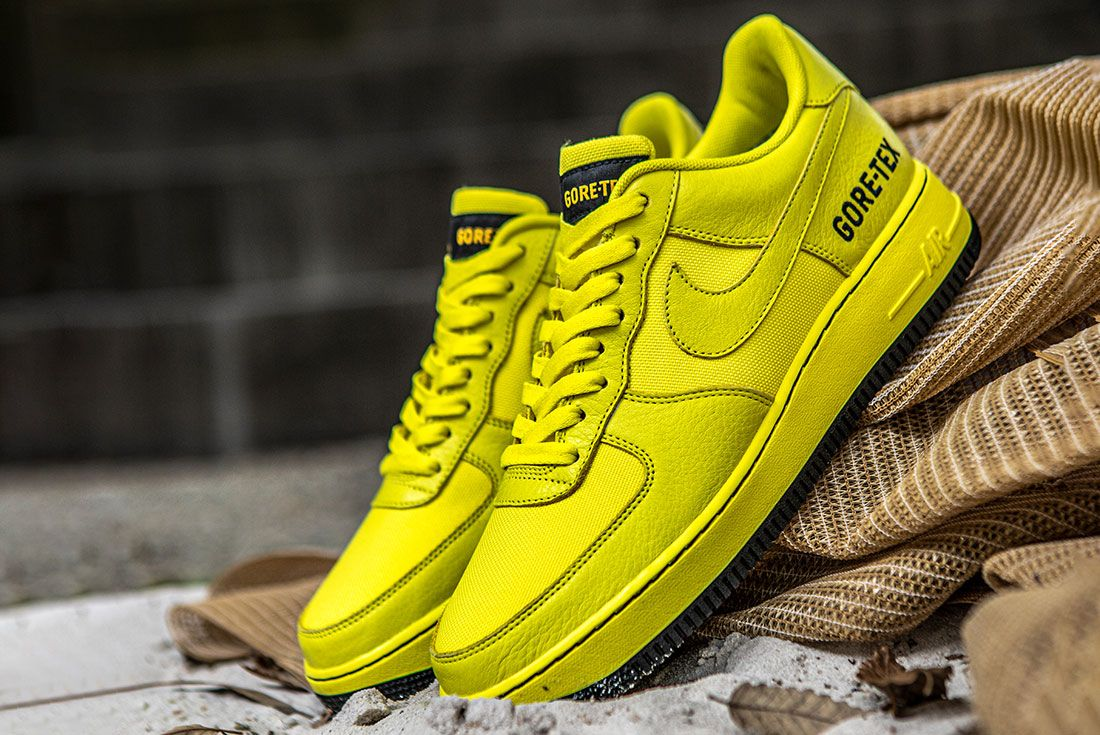 Nike Air Force 1 Gore Tex Yellow Leaning Sneaker Freaker