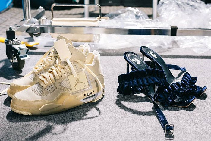 Off White Fall Winter 2020 Collection Runway Air Jordan 4 Sneaker Collab Closer Look1