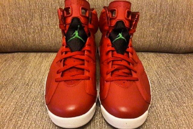 Air Jordan 6 Red Leather 3