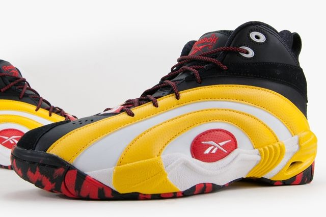 Reebok Shaqnosis Og Black White Yellow Red