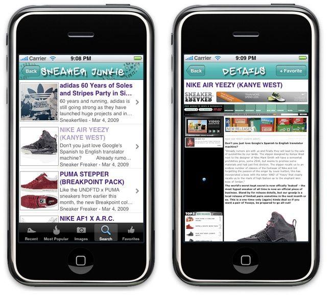 Sneaker Junkie Iphone App 1