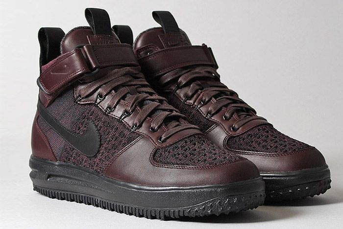 Nike Lunar Force 1 Flyknit Workboot Deep Burgundy 2