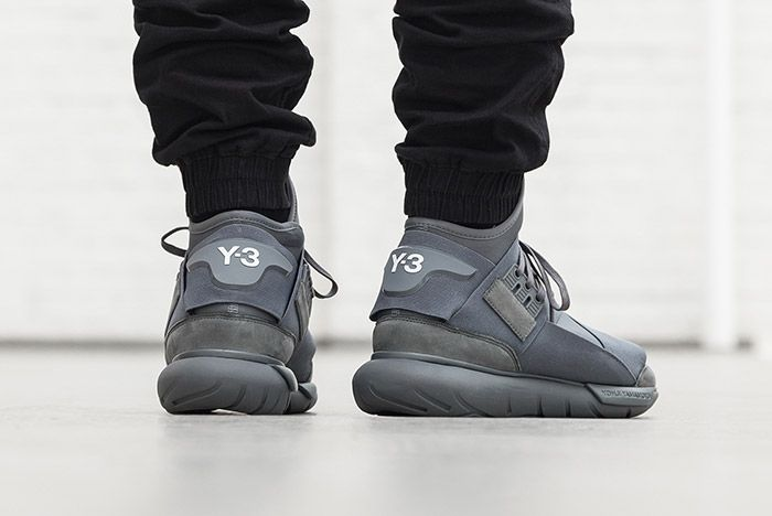 Adidas Y 3 Qasa High Vista Grey On Foot 5