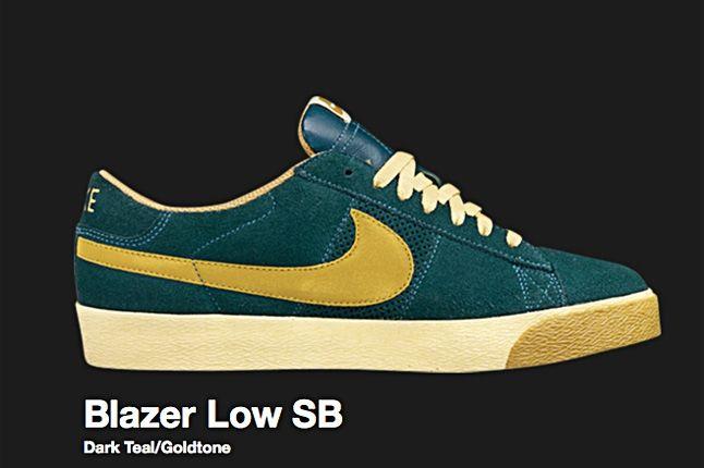 Nike Dark Teal Blazer Low Sb 2008 1