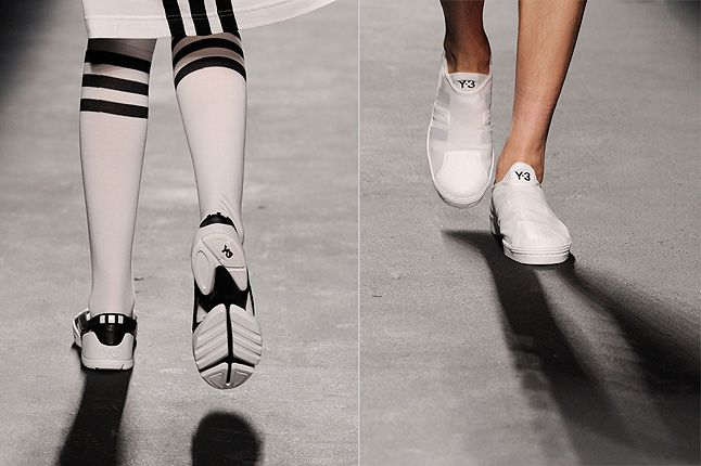 White Y3 Three Stripes Catwalk 1