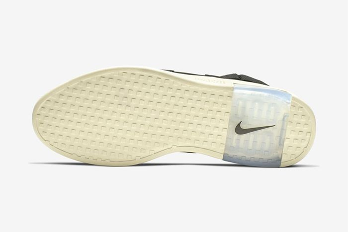 Nike Air Fear Of God Raid Black Fossil At8087 002 Release Date Outsole