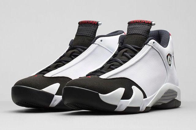 Air Jordan 14 White Black Og Retro Bump 6