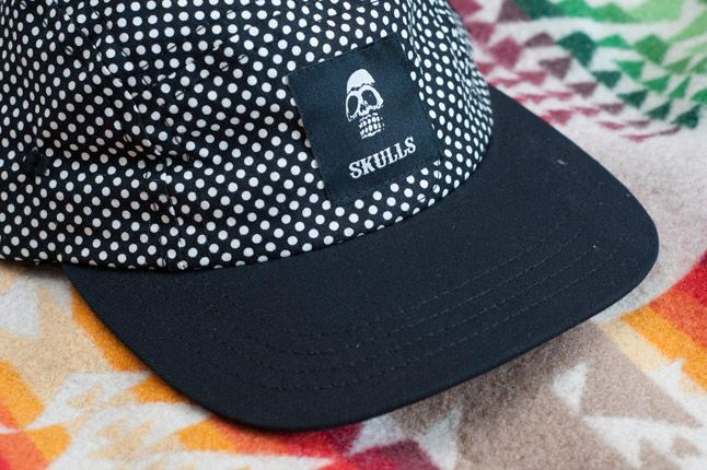 Skulls Un Everything Polka Dot 5 Panel Detail Front Quater Close 1