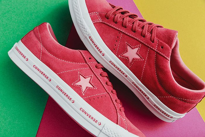 Converse One Star Suede Mint Pink Vanilla 2