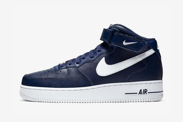 Nike Air Force 1 Mid Navy White Lateral