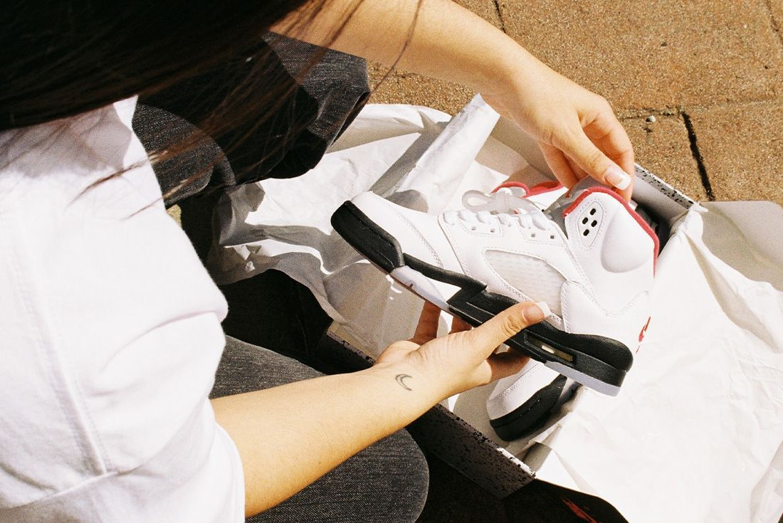 Air Jordan 5 Fire Red Jd Sports Influencer Shot 3