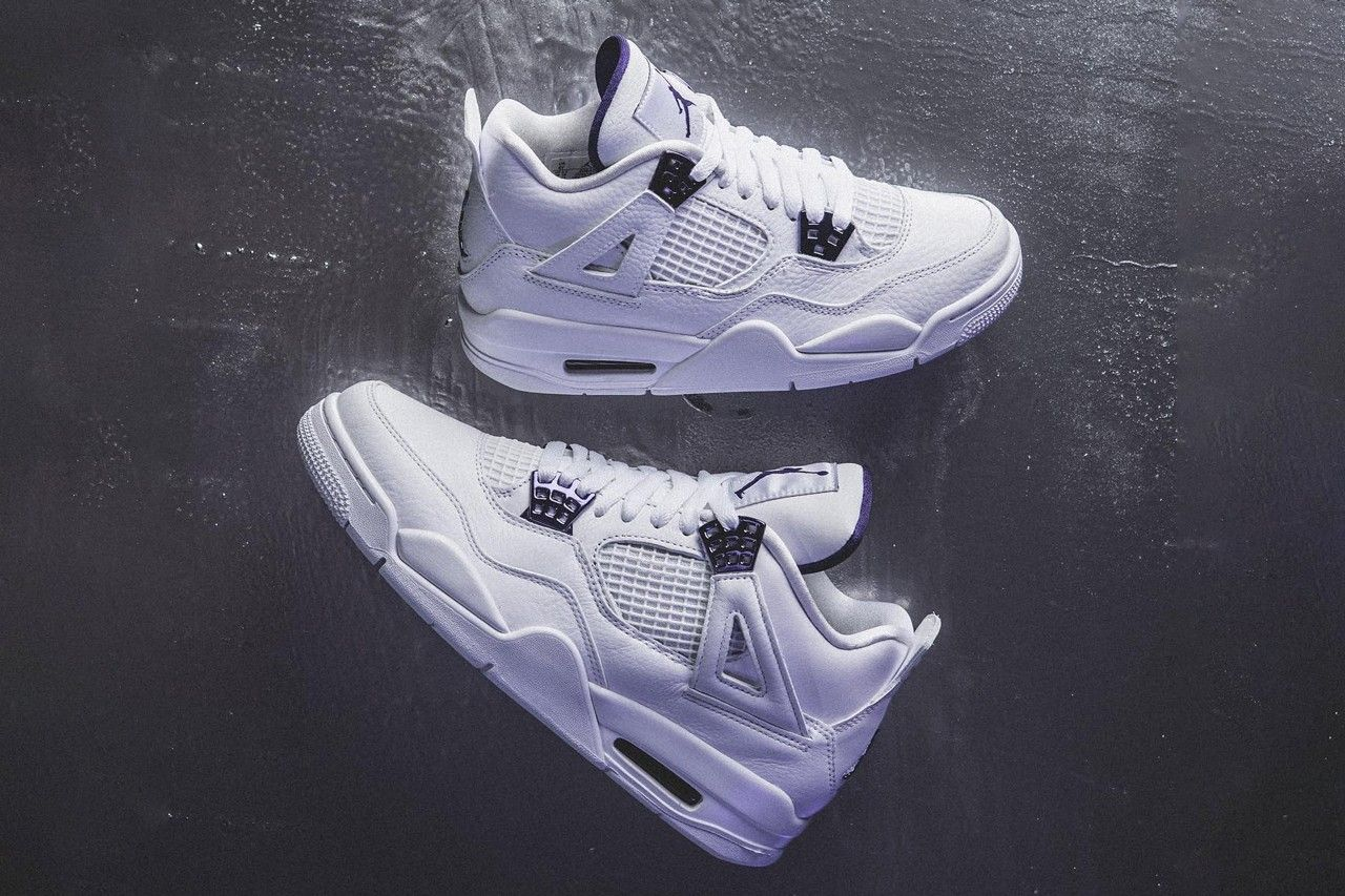 Air Jordan 4 Metallic Purple Top