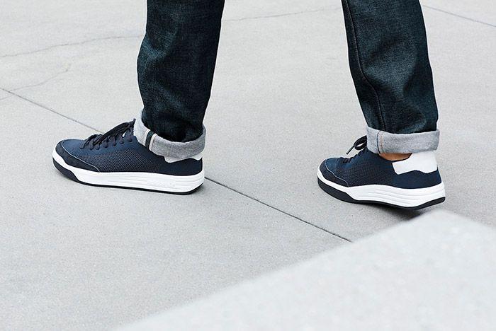 Adidas Rod Laver Primeknit Pk Navy On Feet 1