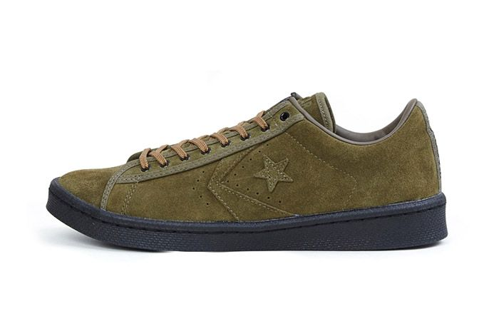 Nexusvii Converse Pro Leather Ox Olive Green Suede 2