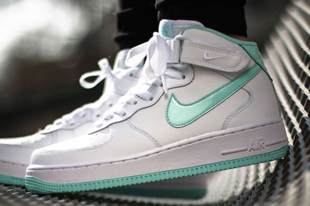 Nike Air Force 1 Mid Gs Whiteartisan Teal 3