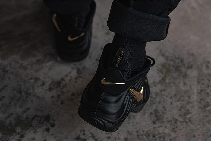 Nike Foamposite Black Gold 2