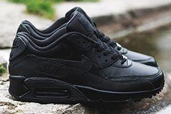 Nike Air Max 90 Leather Triple Black Thumb