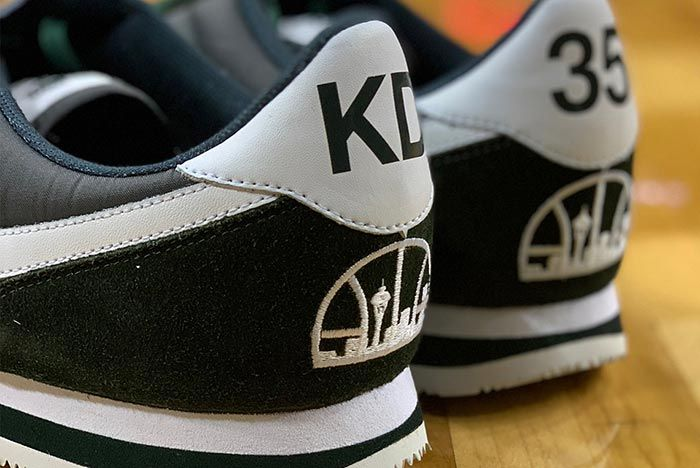 Kevin Durant Returns To Seattle Nike Cortez Supersonics 3