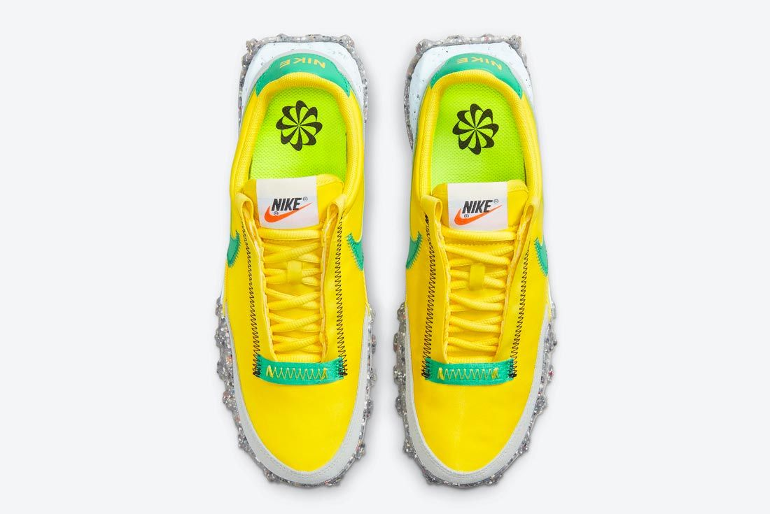 Nike Waffle Racer Crater Green/Yellow