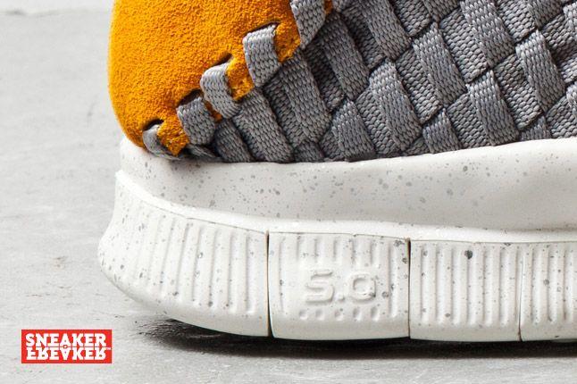 Nike Free Inneva Woven Mine Grey Laser Orange 1 Det 1
