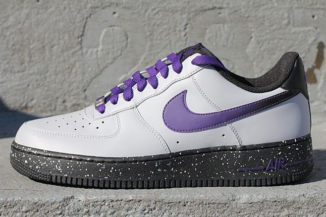 Air Force 1 White Purple Sneaker 1