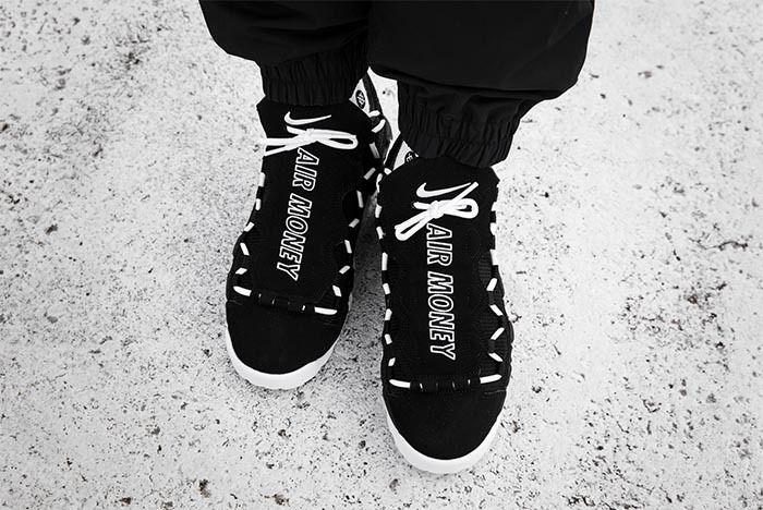 Nike Air More Money Black White 3