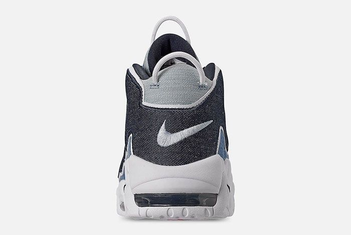 Nike Air More Uptempo Denim Cj6125 100 Release Date 5 Heel