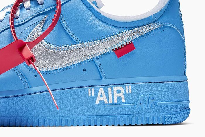 Off White Nike Air Force 1 Mca Heel Close