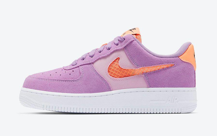 Nike Air Force 1 Violet Star Left