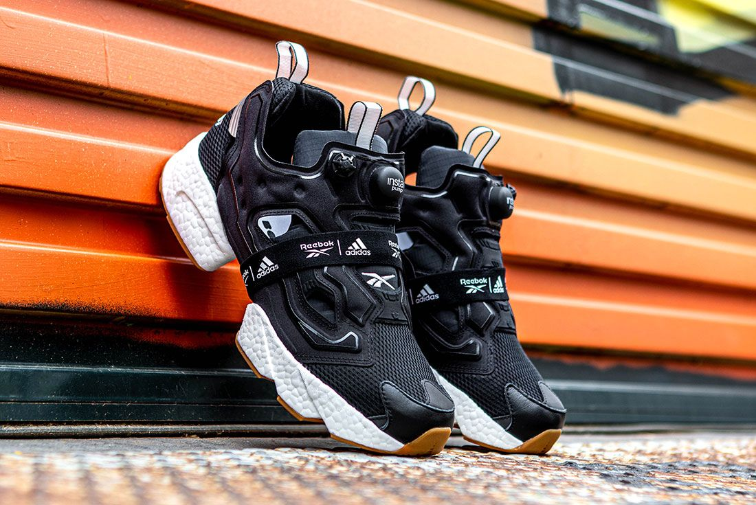 Reebok Adidas Instapump Fury Boost Black And White Pack Exclusive Sneaker Freaker Shot10