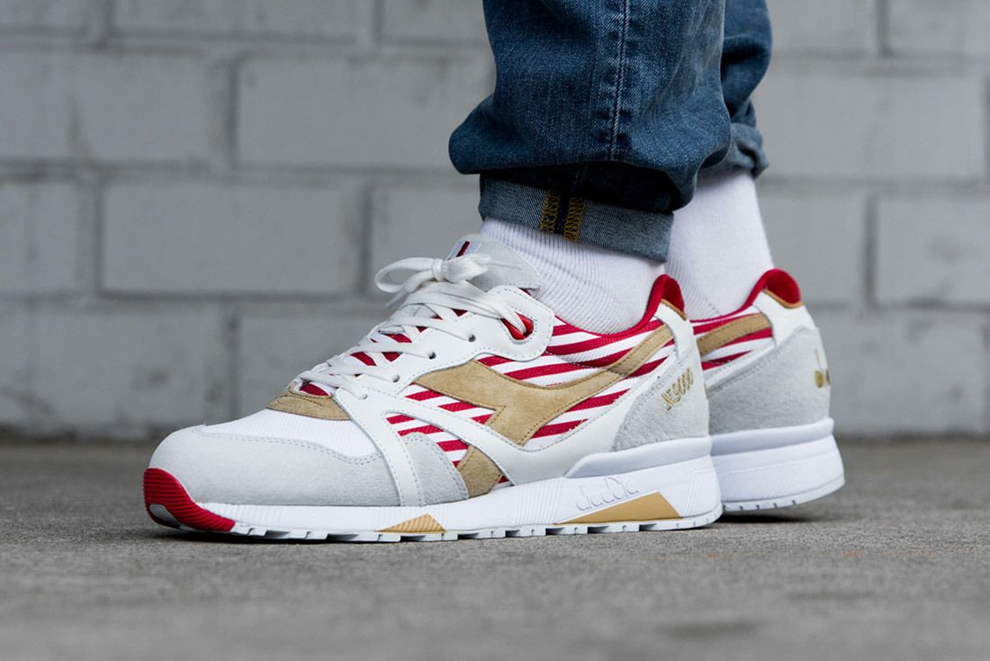 Diadora N9000 Made In Italy Red Bianco Sneaker Freaker 1A