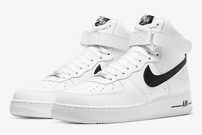 Nike Air Force 1 High White Black Ck4369 100 Front Angle