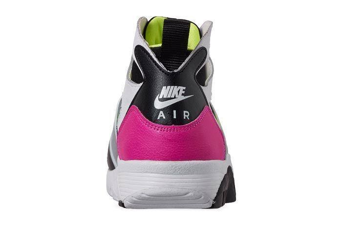 Nike Air Trainer Huarache Black White Laser Fuchsia Volt Heels