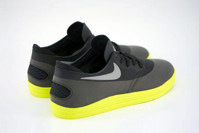 Nike Sb Lunar Oneshot Black Reflect Silver Volt Heel