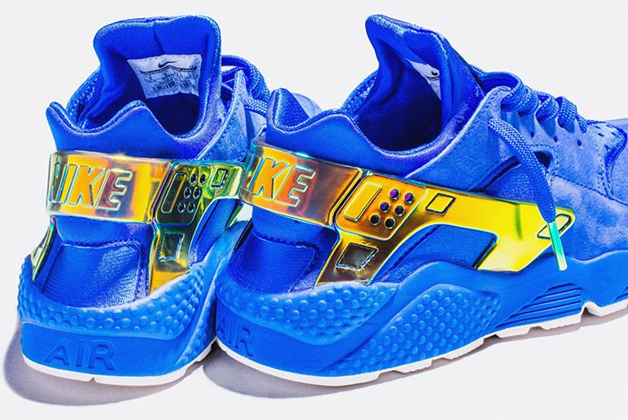 Undefeated Nike La Huarache Crenshaw Blue Gold 3