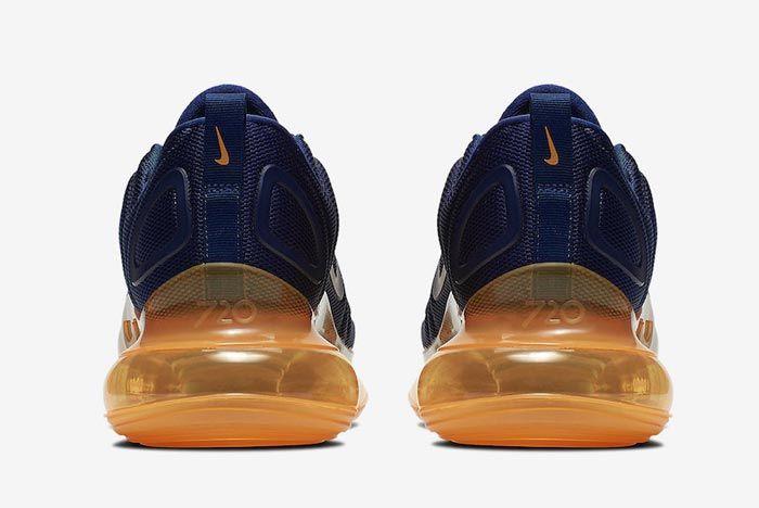 Nike Air Max 720 Midnight Navy Laser Orange Heels