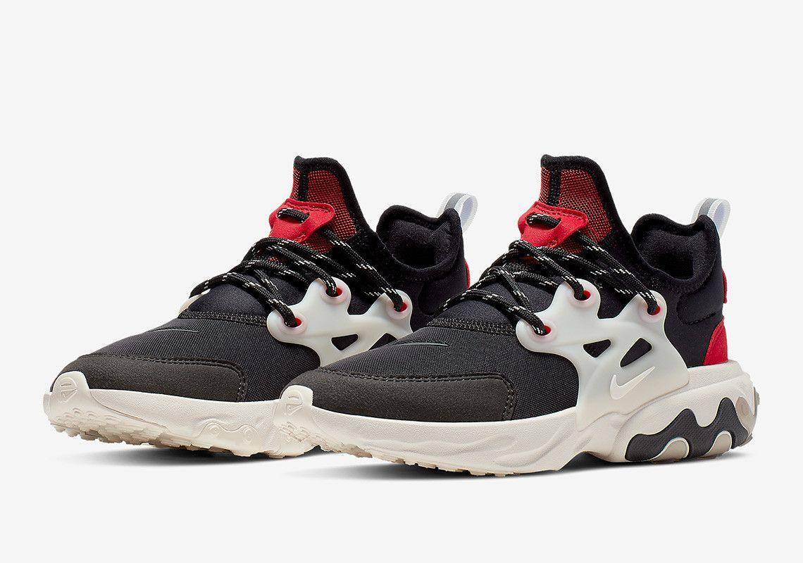 Nike Air Presto React Summer Black Off White Red