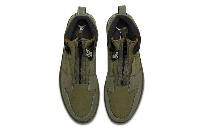 Air Jordan 1 High Zip Olive Canvas 2