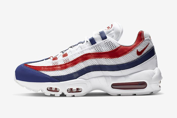 Nike Air Max 95 Red White Blue July 4 2019 Release Date Lateral