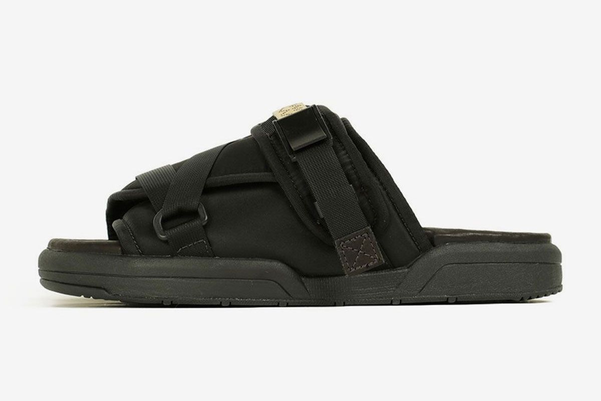 Visvim Christo Sandal Black Left
