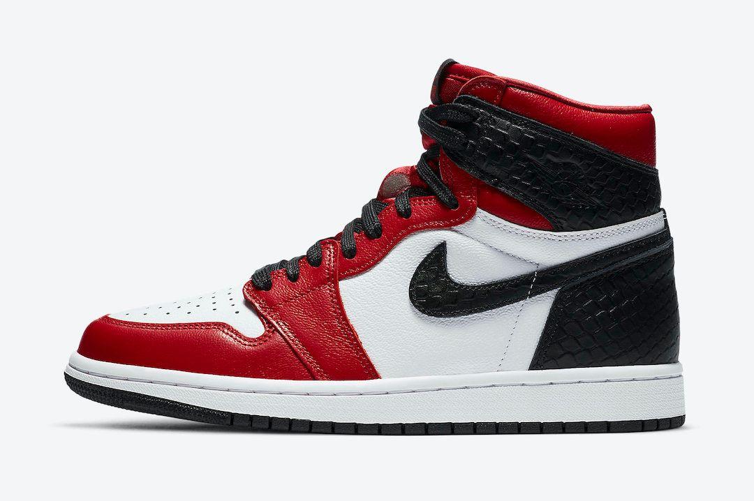 Air Jordan 1 Satin Snakeskin Left