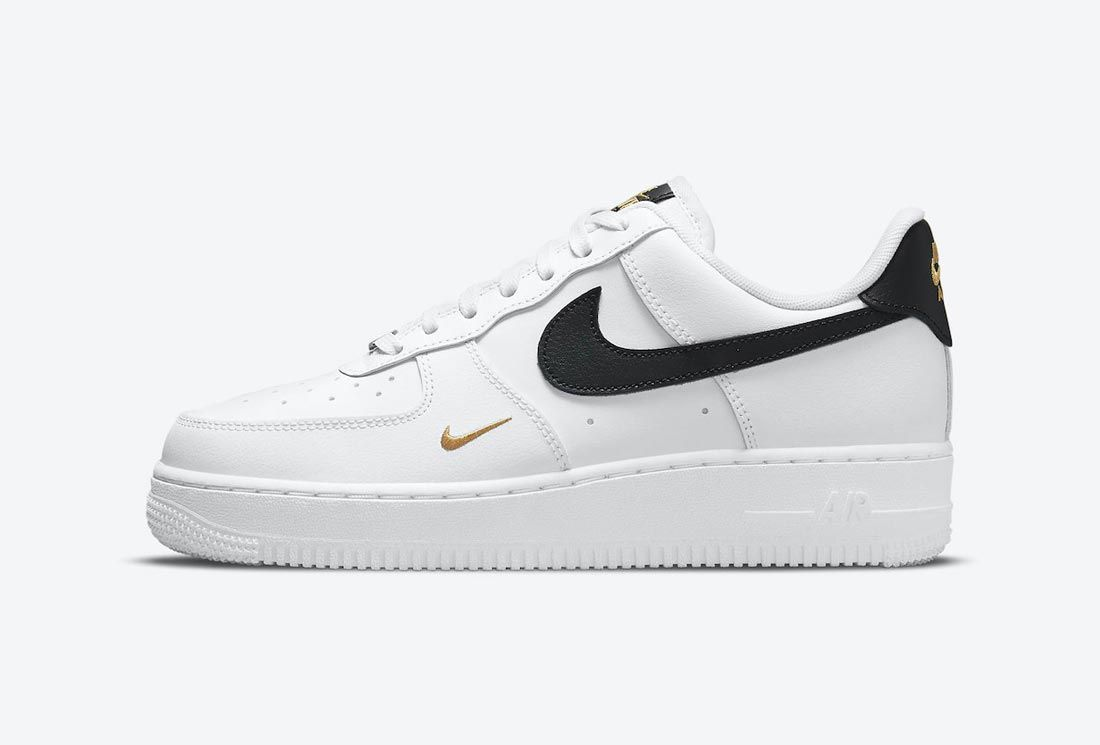 The Nike Air Force 1 Stitches Up Some Golden Highlights - Sneaker ...