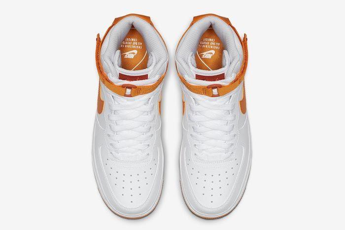 Nike Air Force 1 High White Orange Top