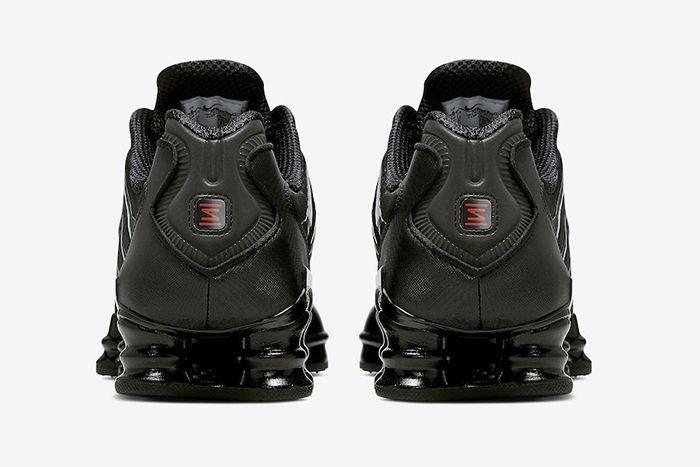 Nike Shox Tl Black Metallic Hematite Av3595 002 Release Date Heel