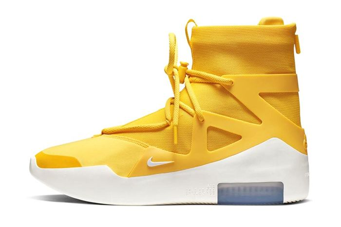 Nike Air Fear Of God 1 Amarillo Yellow Official Release Date Lateral