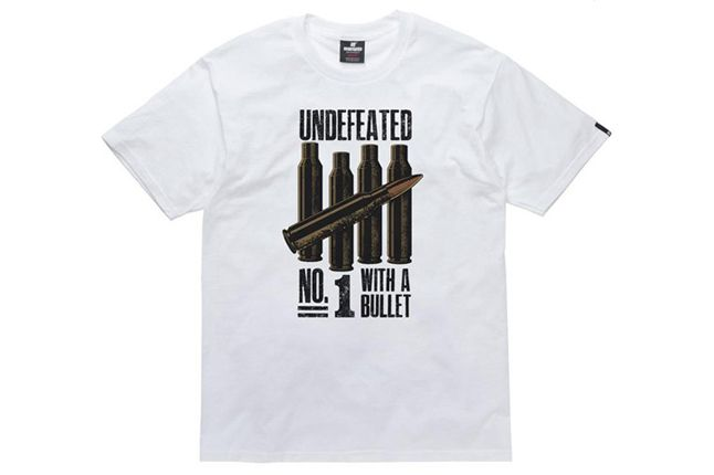 Undefeated T Shirt No1 Bullet White 1