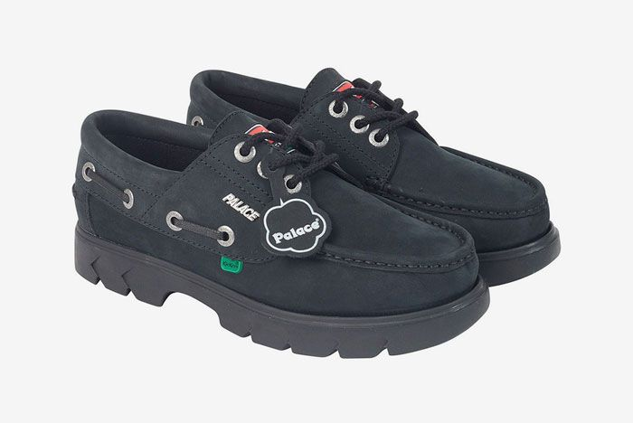 Kickers Palace Boat Shoe Black Front Side